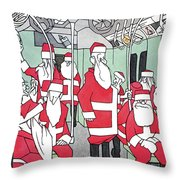 New Yorker December 25th, 1965 Throw Pillow