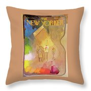 New Yorker December 2nd, 1967 Throw Pillow