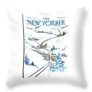 New Yorker December 8th, 1986 Throw Pillow