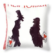 New Yorker February 15th, 1988 Throw Pillow
