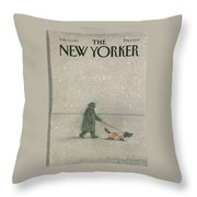New Yorker February 16th, 1987 Throw Pillow
