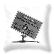 New Yorker January 14th, 1991 Throw Pillow