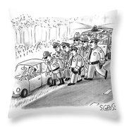 New Yorker January 18th, 1993 Throw Pillow