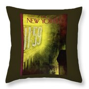 New Yorker January 1st, 1955 Throw Pillow