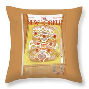 New Yorker January 1st, 1972 Throw Pillow