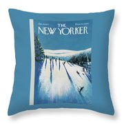 New Yorker January 20th, 1973 Throw Pillow