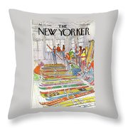 New Yorker January 21st, 1980 Throw Pillow