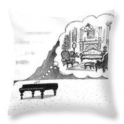 New Yorker January 24th, 1994 Throw Pillow