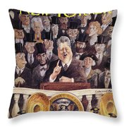 New Yorker January 25th, 1993 Throw Pillow
