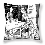 New Yorker January 27th, 1992 Throw Pillow