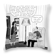 New Yorker January 28th, 1991 Throw Pillow