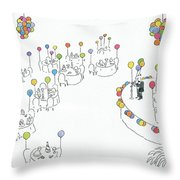 New Yorker January 2nd, 1984 Throw Pillow