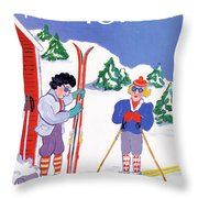 New Yorker January 9th, 1989 Throw Pillow