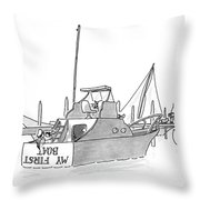 New Yorker July 11th, 1988 Throw Pillow