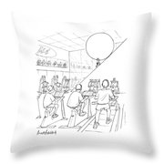 New Yorker July 20th, 1998 Throw Pillow by Mort Gerberg