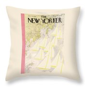 New Yorker July 23rd, 1938 Throw Pillow