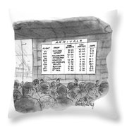New Yorker July 4th, 1970 Throw Pillow