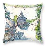 New Yorker July 4th, 1983 Throw Pillow
