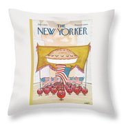 New Yorker July 7th, 1975 Throw Pillow