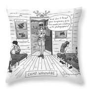 New Yorker July 7th, 1997 Throw Pillow