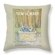 New Yorker June 15th, 1992 Throw Pillow