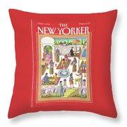 New Yorker June 1st, 1992 Throw Pillow