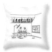 New Yorker June 24th, 1991 Throw Pillow