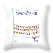 New Yorker June 3rd, 1985 Throw Pillow