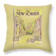 New Yorker June 7th, 1982 Throw Pillow