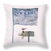 New Yorker March 10th, 1980 Throw Pillow