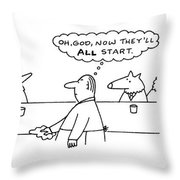 New Yorker March 17th, 1997 Throw Pillow