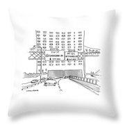 New Yorker March 19th, 1990 Throw Pillow