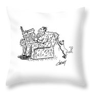 New Yorker March 5th, 1984 Throw Pillow