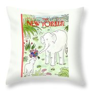 New Yorker May 11th, 1992 Throw Pillow