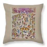 New Yorker May 21st, 1984 Throw Pillow