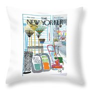 New Yorker May 7th, 1966 Throw Pillow