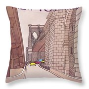 New Yorker November 14th, 1983 Throw Pillow