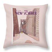 New Yorker November 14th, 1983 Throw Pillow
