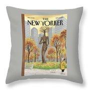 New Yorker November 19th, 2001 Throw Pillow