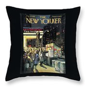 New Yorker November 22nd, 1958 Throw Pillow