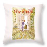 New Yorker November 4th, 1974 Throw Pillow
