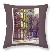 New Yorker October 13th, 1980 Throw Pillow