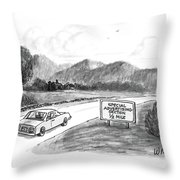 New Yorker October 20th, 1986 Throw Pillow