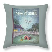 New Yorker October 21st, 1991 Throw Pillow
