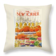 New Yorker October 25th, 1976 Throw Pillow