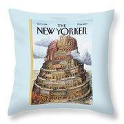 New Yorker October 2nd, 1995 Throw Pillow