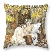 New Yorker October 4th, 1993 Throw Pillow