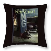 New Yorker October 5th, 1957 Throw Pillow