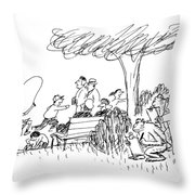 New Yorker October 7th, 1991 Throw Pillow