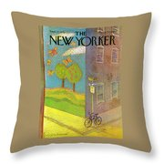 New Yorker September 27th, 1976 Throw Pillow